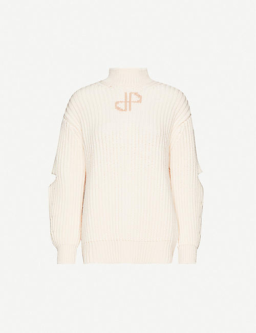PATOU Cut-out merino wool jumper