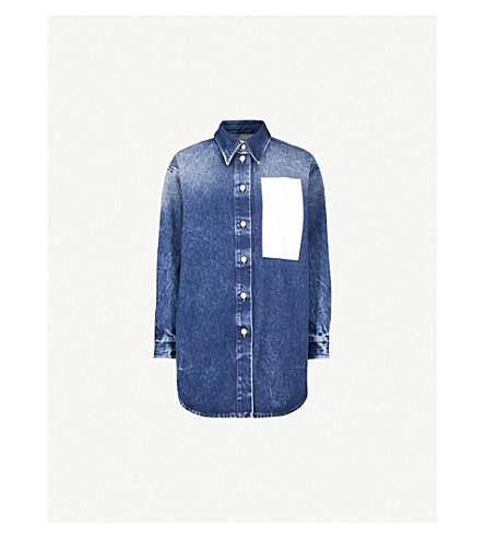 ed83430a531 MM6 MAISON MARGIELA Oversized denim shirt (Med+blue