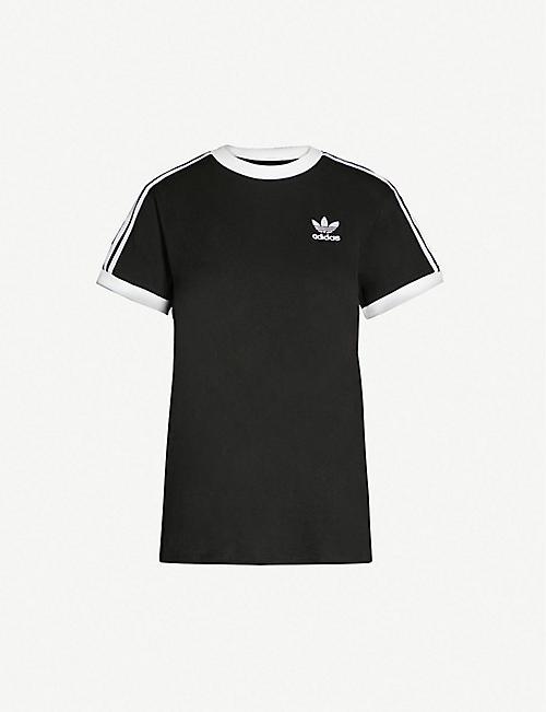 eb4367e4e9f3 ADIDAS ORIGINALS Striped cotton-jersey t-shirt