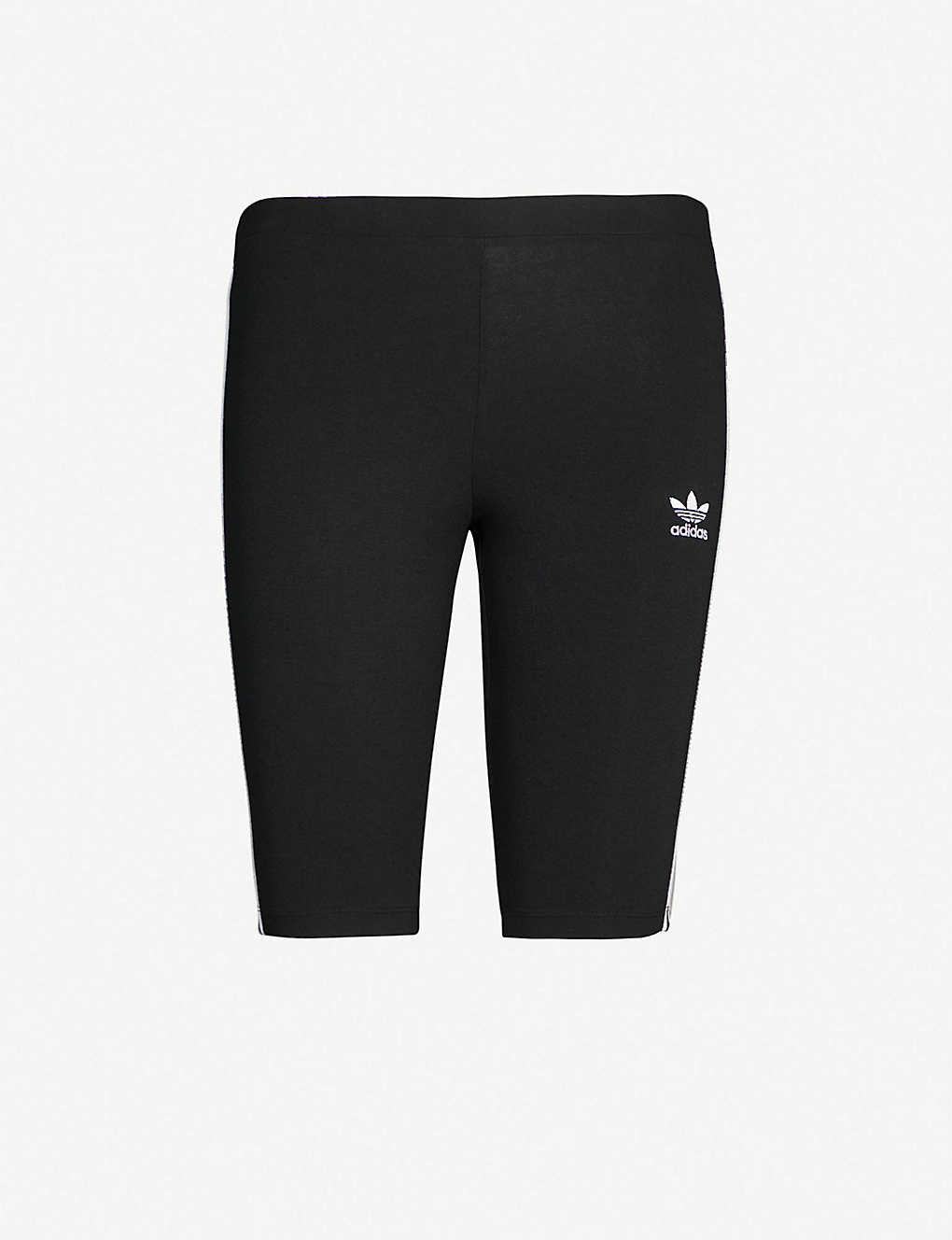 8666e47e Logo-embroidered cotton-jersey cycling shorts
