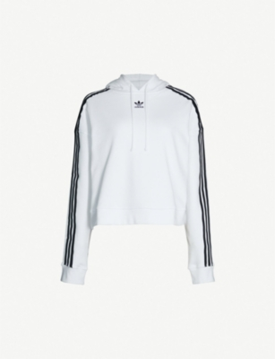 ADIDAS ORIGINALS Cropped cotton-jersey hoody