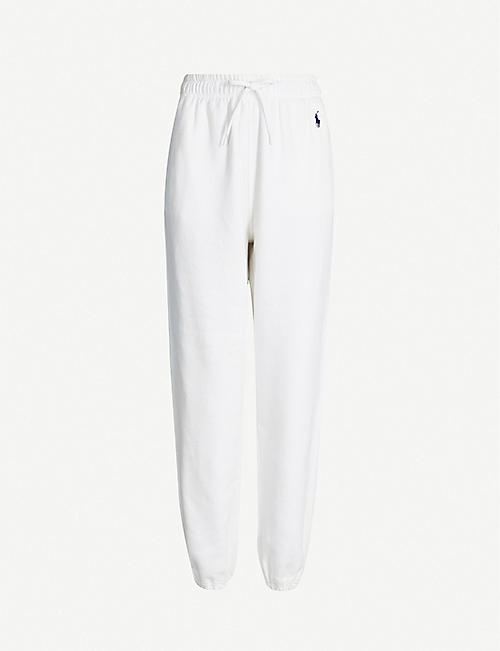 0343f1e03e373a POLO RALPH LAUREN Logo-embroidered tapered cotton-blend jogging bottoms