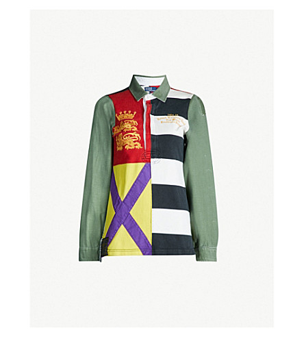 POLO RALPH LAUREN Unisex striped cotton rugby top (Multi b6a5fb39189cf