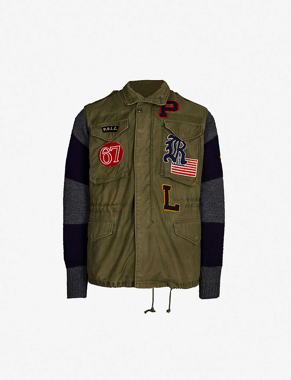 Cotton Ralph Wool Military And Jacket Lauren Polo Unisex PkuXZiOT