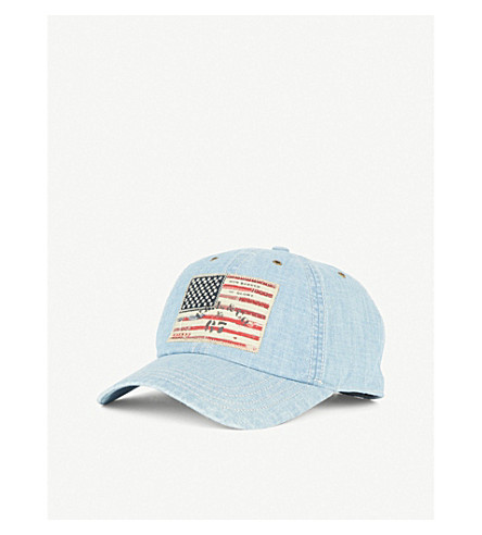 ... POLO RALPH LAUREN American-flag denim cap (Blue. PreviousNext a00facea925