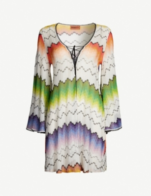 MISSONI V-neck woven cover-up