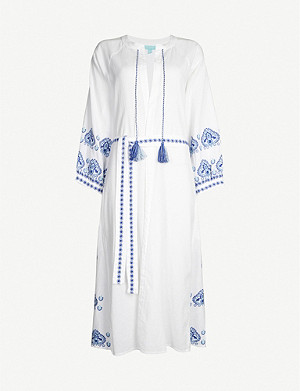 MELISSA ODABASH Audrey cotton kaftan dress
