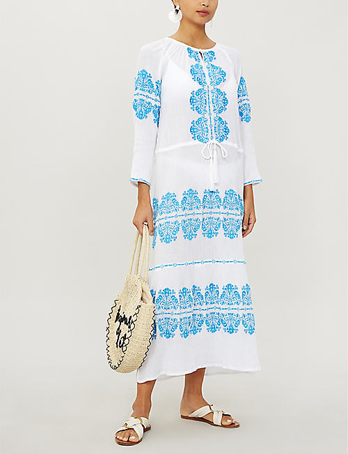 MELISSA ODABASH Lillie embroidered cotton midi dress