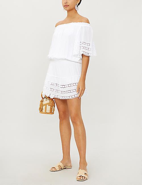 MELISSA ODABASH Michelle off-the-shoulder georgette dress