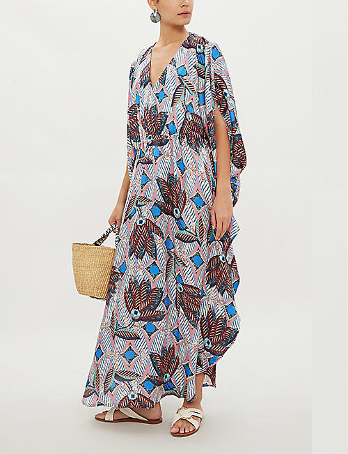 MELISSA ODABASH Nicola satin maxi dress
