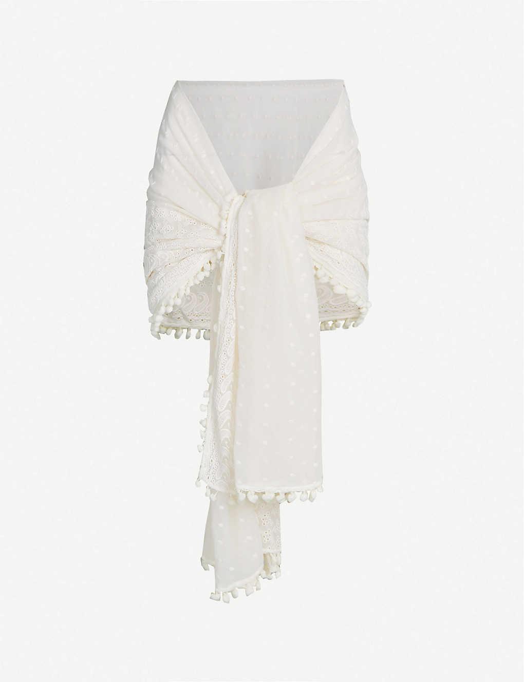 7143f2da58c88d MELISSA ODABASH - Pareo embroidered georgette sarong | Selfridges.com