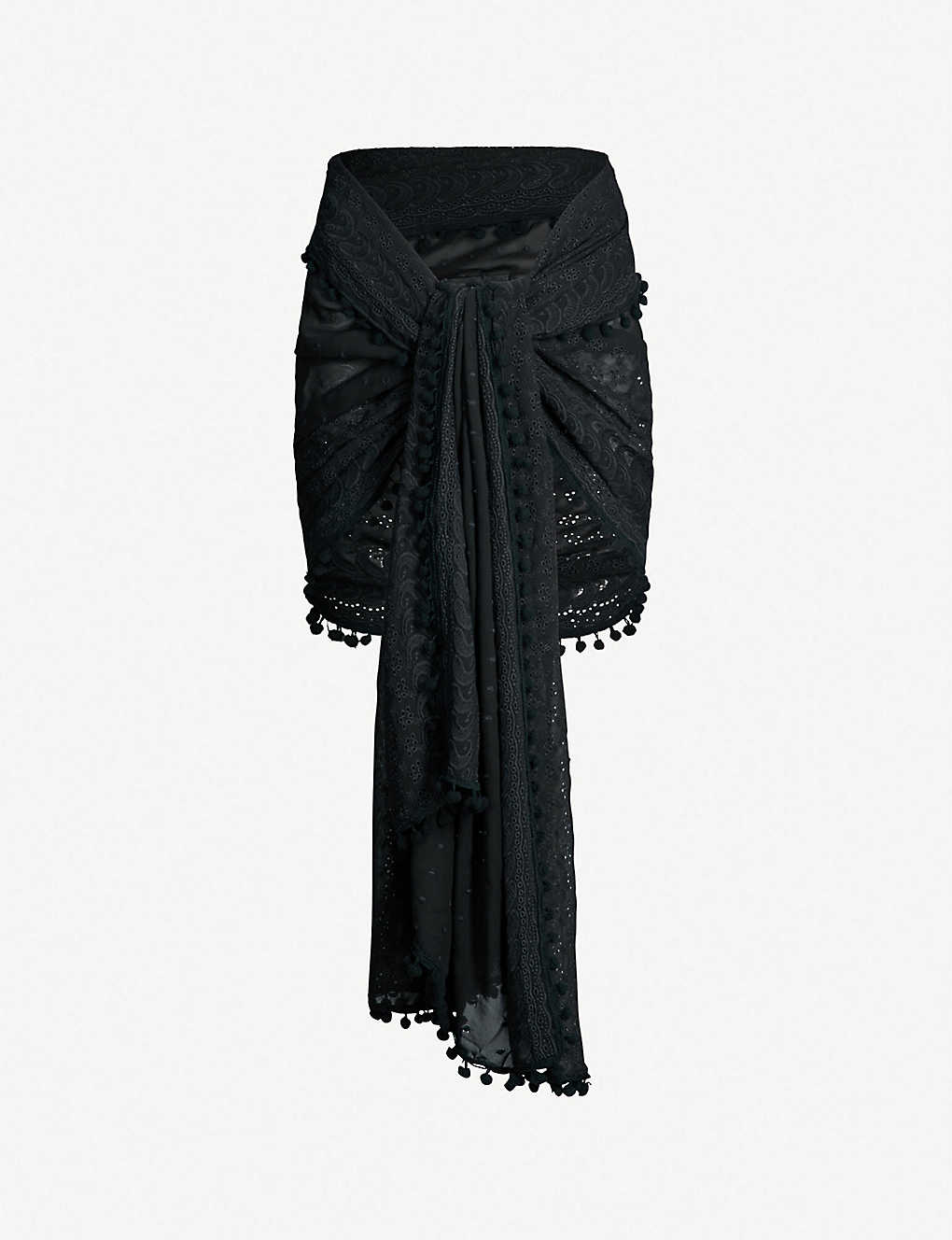 6250bb8c1f314c Pareo embroidered georgette sarong zoom; Pareo embroidered georgette sarong  zoom ...