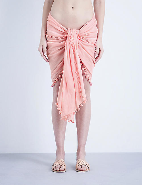 MELISSA ODABASH Pareo cotton and silk-blend sarong