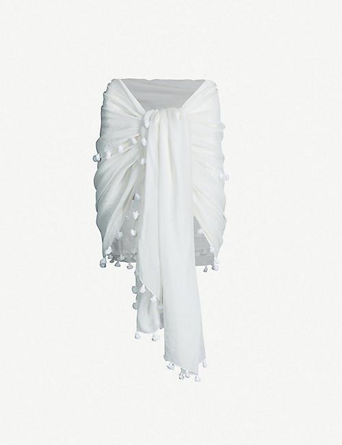 562ca0f7833685 MELISSA ODABASH - Pareo cotton and silk-blend sarong | Selfridges.com