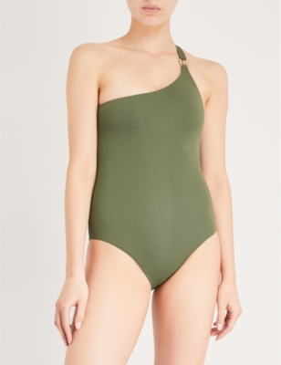 baae5b6369 MELISSA ODABASH - Seychelles one-shoulder swimsuit | Selfridges.com