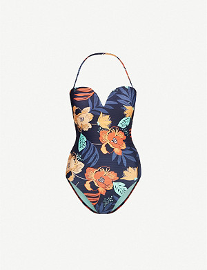 SEAFOLLY Floral-print bandeau swimsuit
