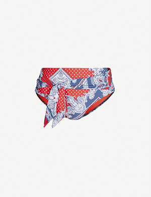SEAFOLLY Paisley-print recycled-nylon swim briefs