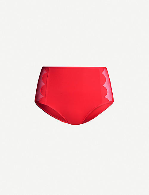 SEAFOLLY Petal Edge high-rise bikini bottoms