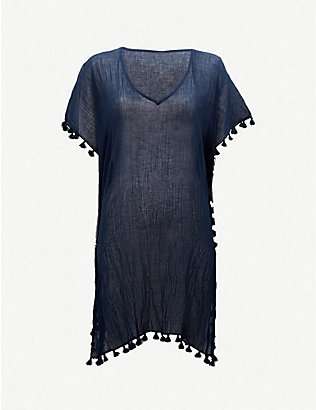 SEAFOLLY: Amnesia crinkled-cotton kaftan