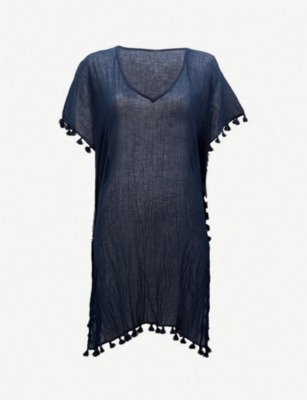 SEAFOLLY Amnesia crinkled-cotton kaftan