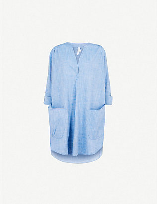 SEAFOLLY: Boyfriend cotton beach shirt