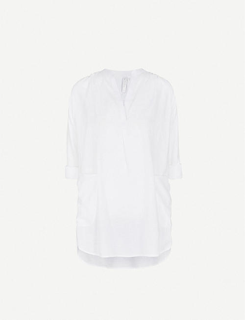 SEAFOLLY Boyfriend cotton beach shirt