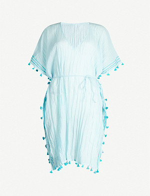 SEAFOLLY Tassel-trim cotton kaftan