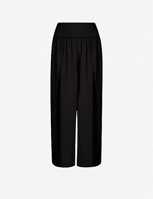 SEAFOLLY Wide-leg cropped crepe trousers