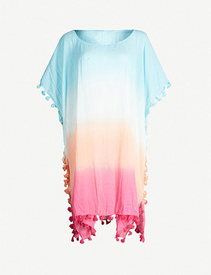 SEAFOLLY Tie-dye print cotton kaftan