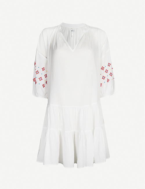 SEAFOLLY Geometric-embroidered cotton dress
