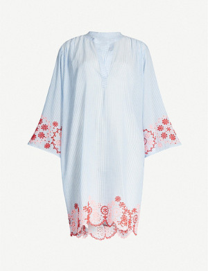 SEAFOLLY Bandana Bay lace-trim cotton shirt