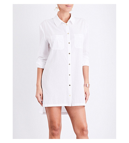 7b5209fa38f89 Add to Wish list View product details Hide product details. HEIDI KLEIN  Maine oversized woven shirt dress (White