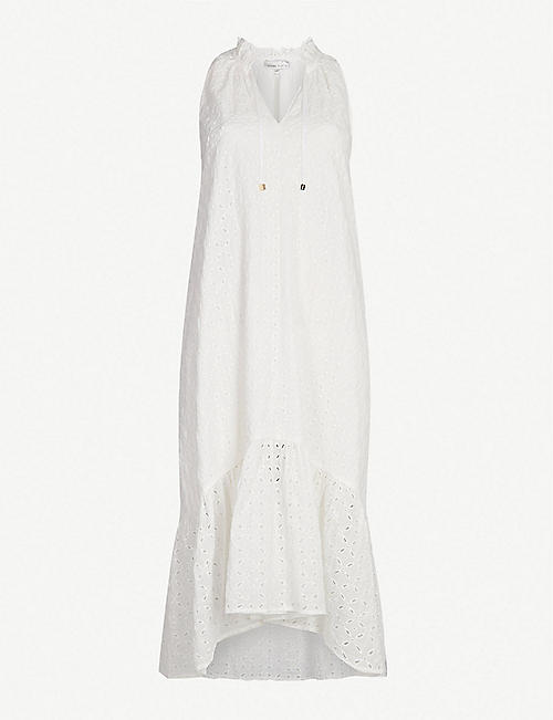 HEIDI KLEIN Malta sleeveless cotton-broderie midi dress