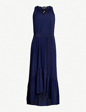 HEIDI KLEIN Ruffle-hem silk-crepe dress