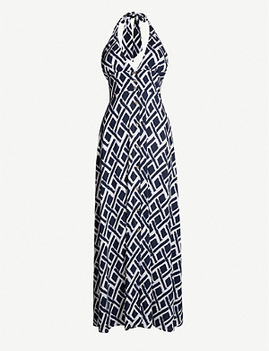 HEIDI KLEIN Sorrento geometric-print woven maxi dress