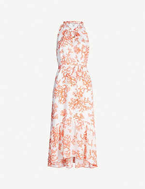 HEIDI KLEIN Belize coral-print silk-satin midi dress