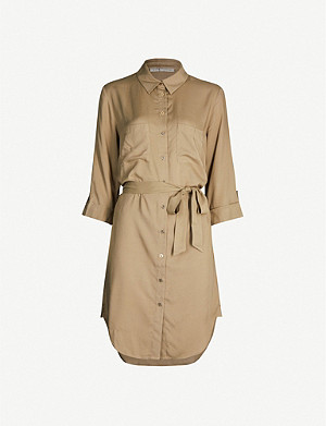 HEIDI KLEIN Venice belted drill shirt dress