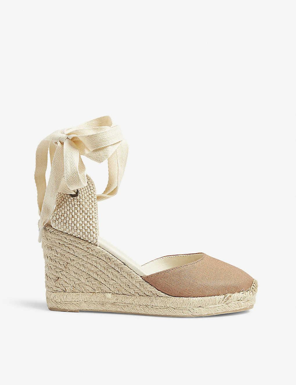 a45c37cb77c SOLUDOS - Linen woven wedge sandals | Selfridges.com