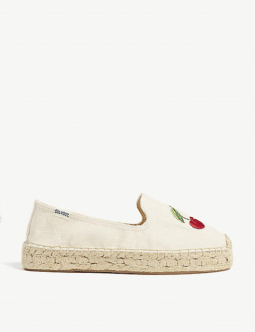 0083ee7a4e1 SOLUDOS - Cherry espadrille smoking slippers