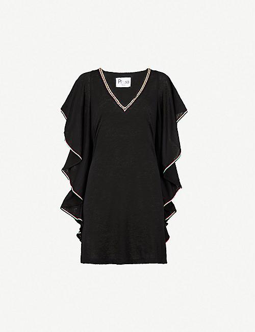488d1d8b01a PITUSA - Flare cotton-blend mini dress