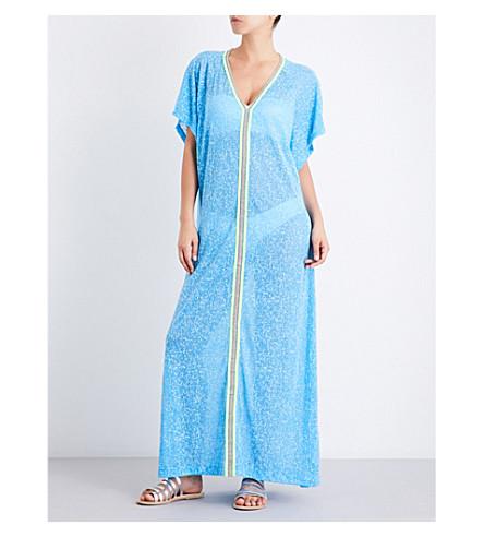 7da6f2718fa Pitusa Abaya Cotton-Blend Dress In Blue