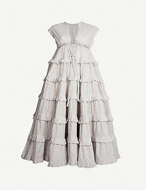 INNIKA CHOO Ruffled cotton dress
