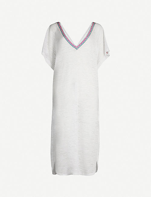 PITUSA V-neck jersey midi dress