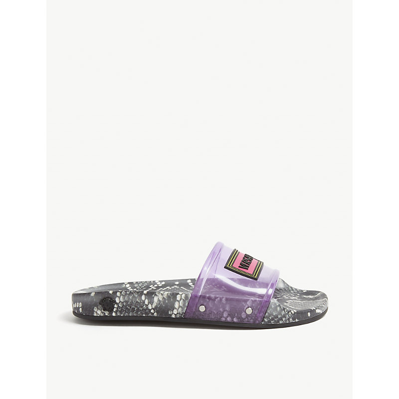 Versace Slippers SNAKE PRINT SLIDERS