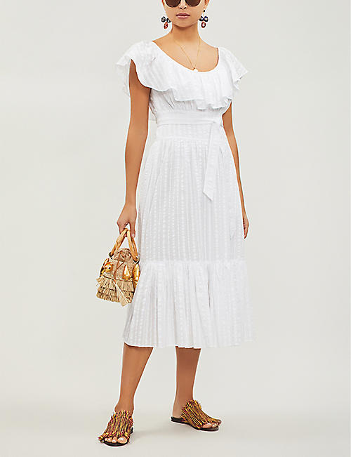 TORY BURCH Striped cotton dress