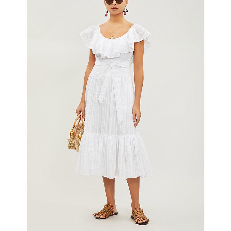 TORY BURCH   Striped Cotton Dress   Goxip