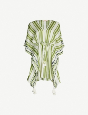 TORY BURCH Striped cotton kaftan