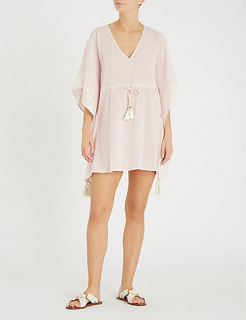 TORY BURCH Ravena striped cotton kaftan