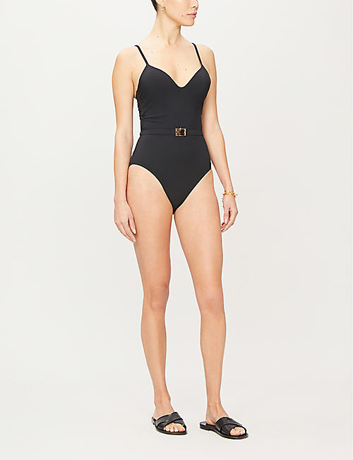 TORY BURCH T-belt moulded cup swimsuit