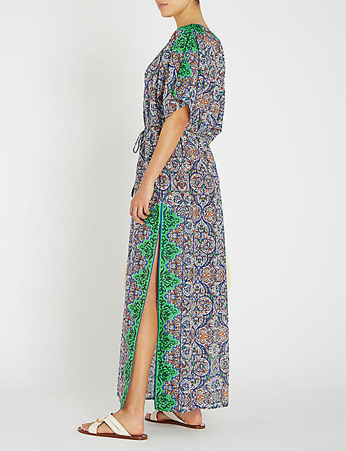 TORY BURCH Grand Voyage cotton and silk-blend kaftan